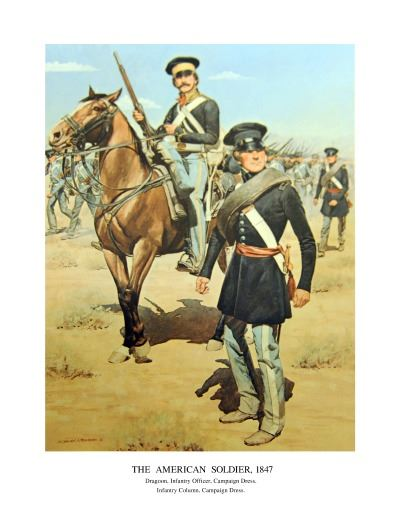Dragoon Infantry Soldiers. Painting by unknown artist.