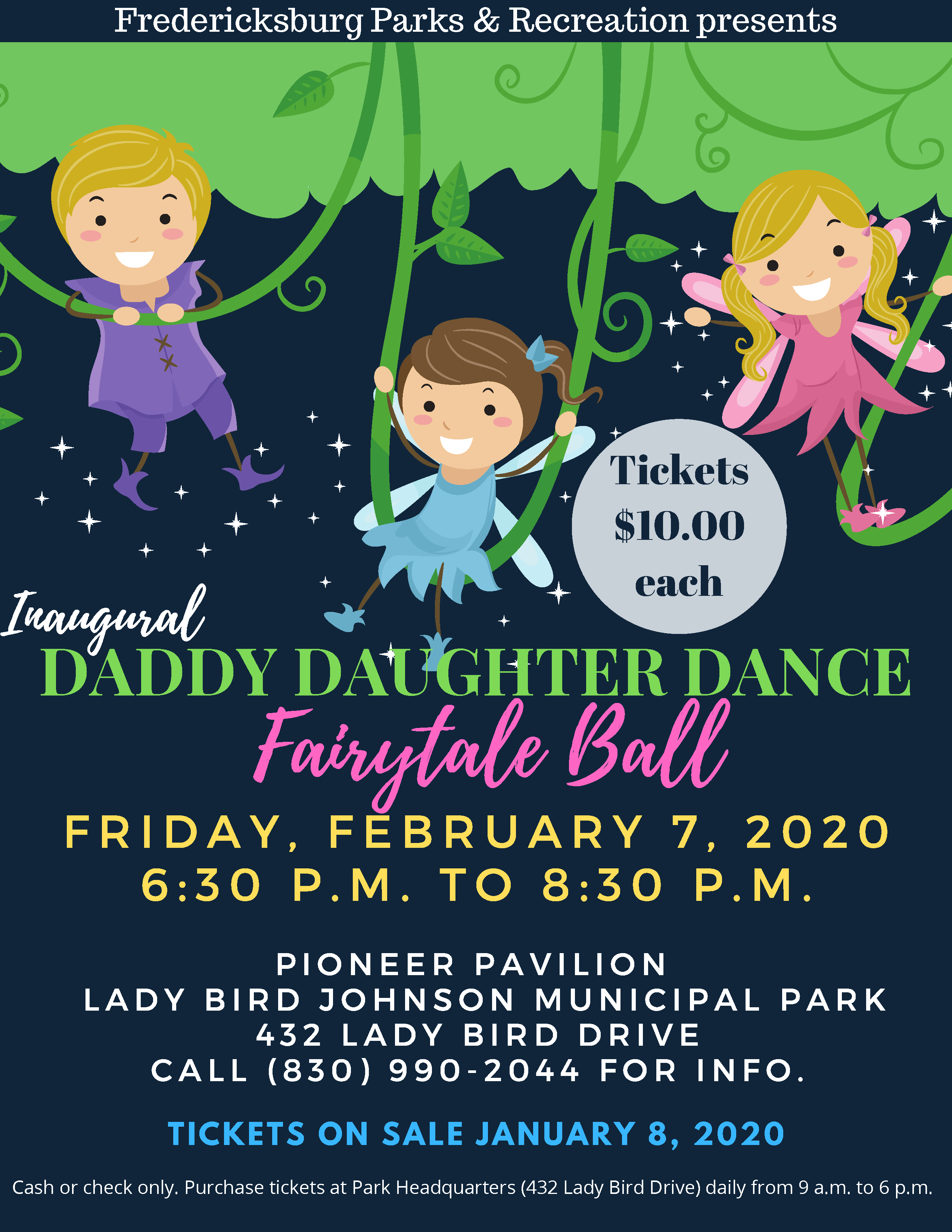 2020 Daddy Daughter Dance Flyer